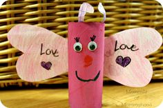 Love Bug/Butterfly Paper Roll Craft