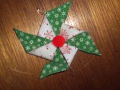fused fabric pin wheel ornament