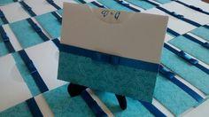 Convite envelope arabesco azul