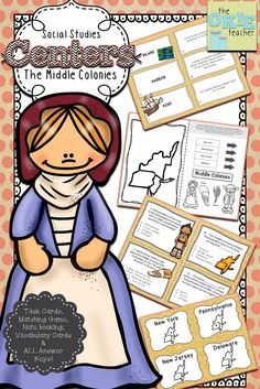 Middle Colonies Centers: Task Cards, Matching game and much more!