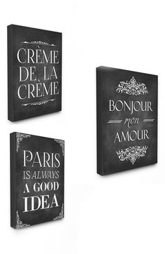 LulusimonSTUDIO Canvas Wall Art (Set of 3) available at #Nordstrom