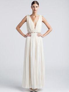 Lanvin Robe Long Dress Bridal Glamour Wedding BNWT Size FR34 RRP$11999