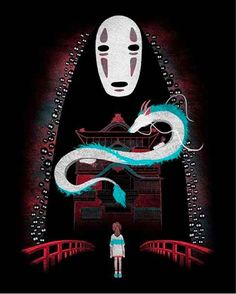 This perfect artwork of the main characters from Spirited Away: