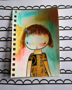 My Mindy Lacefield inspired doll drawing.