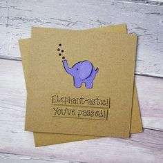 Your place to buy and sell all things handmade Diy Cards, Your Cards, Elephant Silhouette, Baby Announcement Cards, Pun Card, Paint Cards, Bff Gifts, Congratulations Card, Animal Cards