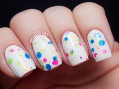 Chalkboard Nails: Starrily Bright Light