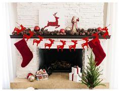 Christmas Decorations Deer Hanging Banner 1 Set Reindeer Cardboard Banner Flag Christmas Festival Party Supplies