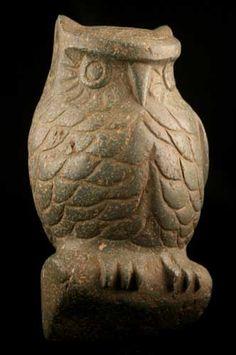 Aztec Stone Sculpture of an Owl - CK.0608 Origin: Central Mexico Circa: 1200 AD to 1500 AD