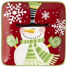 Snowman Appetizer Plate  Pier1.com I have some of these. BD