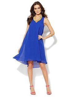 Racerback Bow Dress - New York & Company