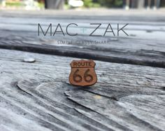 Laser Cut Wood Pin-Route 66