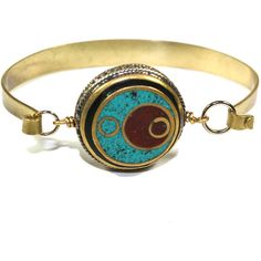 Other Areas Large Osiris Cuff ($35) ❤ liked on Polyvore featuring jewelry, bracelets, beaded jewelry, cuff bangle, adjustable bangle, bead jewellery and cuff jewelry