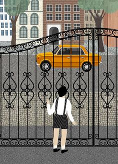 Katerina Gorelik's textural illustrations mix the everyday with the dramatic