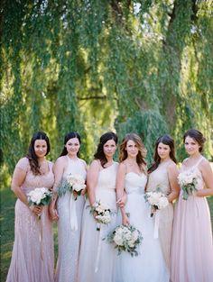 mis-matched-bridesmaids-blush-dresses