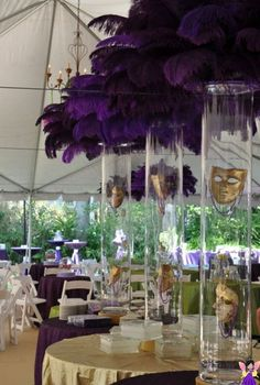 Image result for pantone purple feather centerpiece