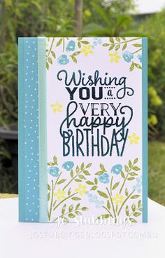 Jo's Stamping Spot - What Will You Stamp #WWYS100 using Number of Years & Big On Birthdays by Stampin' Up!