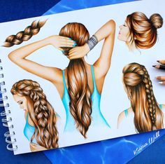 Still obsessed with drawing hair after all this time ✏️ Double-tap your favourite hairstyle!