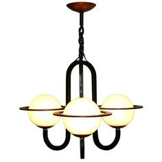 French Art Moderne Chandelier | From a unique collection of antique and modern chandeliers and pendants  at http://www.1stdibs.com/furniture/lighting/chandeliers-pendant-lights/