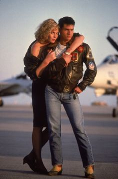 Still of Tom Cruise and Kelly McGillis in Top Gun