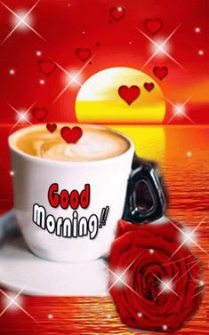 Browse the latest good morning love gif online on happyshappy. Save and share it with your loved once. Good Morning Life Quotes, Good Morning Coffee Gif, Good Morning Love Gif, Good Morning Roses, Good Morning For Him, Good Morning Cards, Good Morning Inspiration, Happy Sunday Quotes, Good Morning Greetings