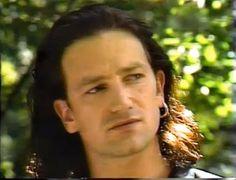 Bono Long Hair. Summer.