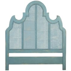 ELK Home 954505 Cane Queen Headboard Coastal Aqua over Scandinavian Linen Mahogany Headboard, Caned Headboard, Headboard Designs, Blue Headboard, Cane Bed, Coastal Cottage, Beach House Furniture, Carved Headboard, Elk Home