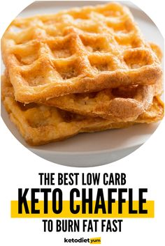 Who said you can't enjoy the deliciousness of a waffle if you're following a Keto or low-carb diet? Actually – you can!