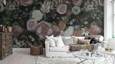 Out for a floral wall mural? We have a wide collection of stunning floral wall murals. Buy online – free worldwide shipping and paste included. Flowery Wallpaper, Rose Wallpaper, Wall Wallpaper, Black And White Wallpaper, High Quality Wallpapers, Christian Lacroix, Vintage Walls, Decor Interior Design, Art Decor