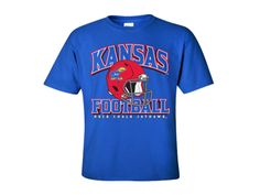 Kansas Jayhawks 1941 Red Helmet Youth Tee - Royal
