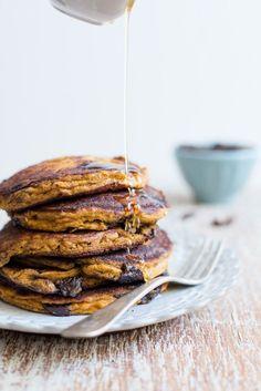 Chocolate Chip Pumpkin Pancakes  Gluten Free / See and Savour