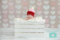 Baby  Valentine Hat- Candy Corn Hat - Photography Prop. $25,00, via Etsy. If I ever have a newborn around Valentine's day! But so cute any time of year, I suppose!
