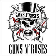 guns 'n roses adesivo preto e branco - Pesquisa Google