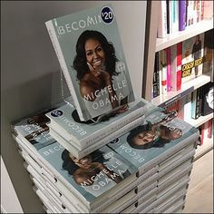This Impressive Becoming Michelle Obama Jenga Book Stack is part in-store display and merchandising, and part back stock strategy.