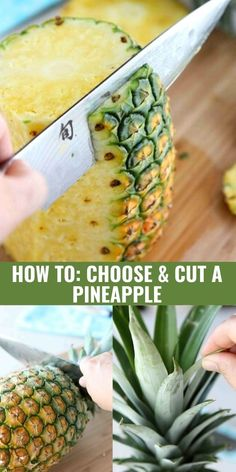 If you've ever wondered how to tell if a pineapple is ripe and how to cut a pineapple, there are plenty of tips and tricks in this post! | How to choose a ripe pineapple | How to choose a ripe pineapple | Sweet pineapple #choosepineapple #cutpineapple #cookingtips