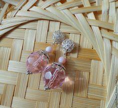 """Купить Серьги серебряные """"Розовые оттенки"""". Кварц и опал. - розовый, серьги, сережки, рзовые серьги"""