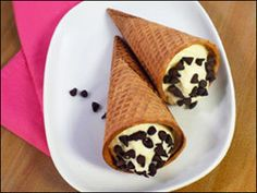 Holy Moly Cannoli Cones Recipe from Hungry Girl