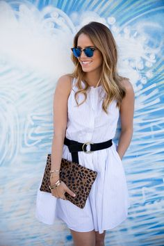 Gal Meets Glam- Zara Dress, Sole Society Sandals, Clare Vivier Bag