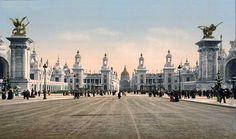 #Paris #early #1900s #color #photo