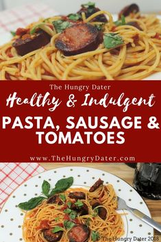 Light n' Tasty Pasta & Tomatoes with Sausage - Inspired by a Cooking Light Recipe and a great way to use summer Basil and Tomatoes! Best Food Gifts, Gourmet Food Gifts, Gourmet Food Store, Gourmet Recipes, Healthy Recipes, Yummy Recipes, Dinner Recipes, Healthy Soup, Healthy Meals