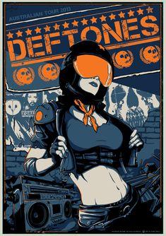 DEFTONES poster VANCE KELLY