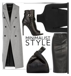 """""""Minimalist Style"""" by maranella ❤ liked on Polyvore featuring rag & bone, McQ by Alexander McQueen, Joseph, Dsquared2 and Yves Saint Laurent"""