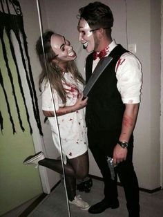 The Purge Outfit Idea pin on halloween The Purge Outfit. Here is The Purge Outfit Idea for you. The Purge Outfit the purge halloween costumes popsugar smart living. The Purge Outfit the pur. Scary Couples Halloween Costumes, Cute Couples Costumes, Homemade Halloween Costumes, Halloween Cosplay, Halloween Outfits, Couple Costume Ideas, Halloween Zombie, Woman Costumes, Pirate Costumes