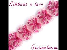 How to make the ribbons & lace hook only bracelet (original design) rainbowloom - YouTube