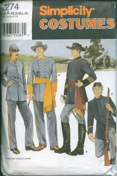 Union Army Soldier Confederate Uniform Civil War by OhSewCharming