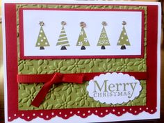 Hand Made Christmas Greeting Card with Envelope by CrazyCoasters, $3.00