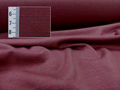 Stripe Single Jersey Merino, 0.7mm, Beet Red/Portobello, Levana Textiles Factory Shop, Made in New Zealand