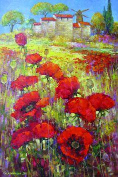 Poppys by Elena Kalashnikova