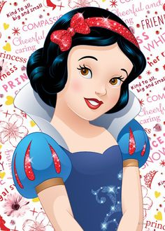 Beautiful Disney princess Snow White designs to personalize as a gift for yourself or friends and family. Wonderful gift ideas for birthdays. Walt Disney, Disney Art, Disney Girls, Disney Love, Princess Wall Art, Snow White 7 Dwarfs, Disney Princess Snow White, Seven Dwarfs, Princesas Disney