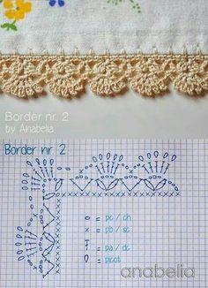 63 Fantastiche Immagini Su Bordure Uncinetto Crochet Edgings