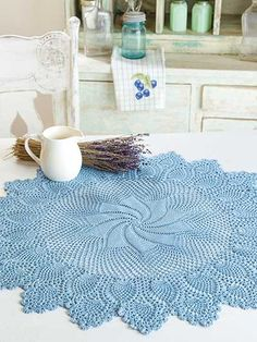Crochet - Doily Patterns - Pinwheel Perfection Centerpiece
